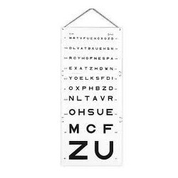 Echelle optométrique...